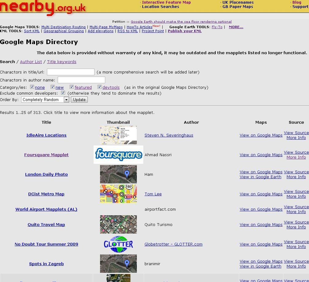 Google Maps « nearby org uk blog