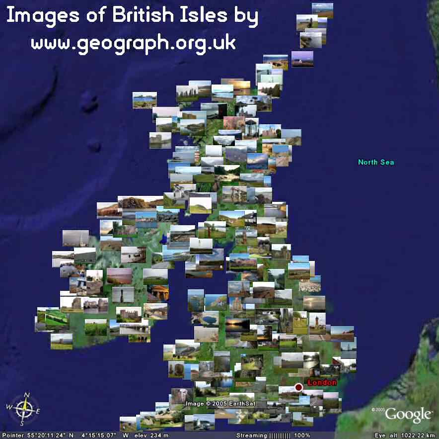 Google Maps and Google Earth Nearby KML UK and Ireland – Earth Map Online